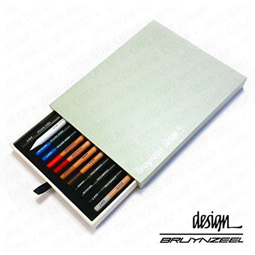 Bruynzeel design–Künstler Box 30,5cm Spezialitäten 'Zeichnen Bleistifte und blurrer