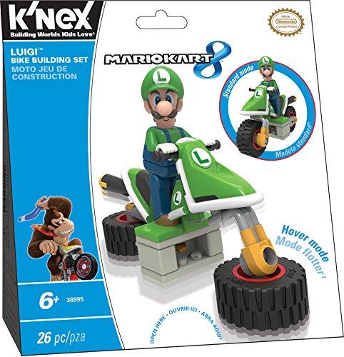 K'NEX Mario Kart 8 Vehicle - Luigi's Bike [UK Import] (Luigi Kart Knex)