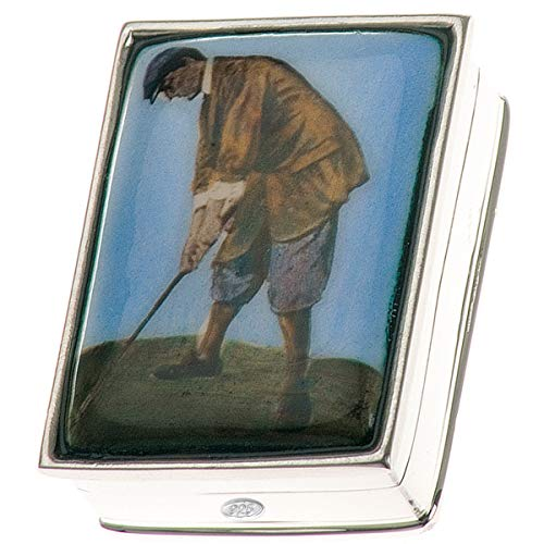 Pillendose Golf 2,5x3,5 cm Silber 925 Sterling