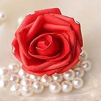 Ramo de flores artificiales Kungfu Mall, 50 unidades de 7,5cm, rosas de espuma, bola de flores para fiesta de boda, decoración del hogar