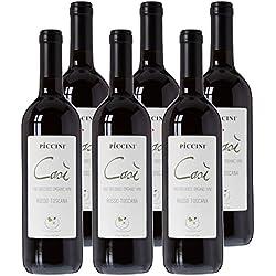 Piccini Cosi Bio Vin Rouge IGP Toscana Italie 0,75 L - Lot de 6