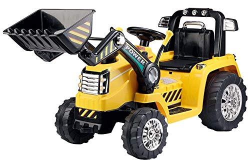 Toyas Bagger Bulldozer Kinder Elektro Auto Fahrzeug Traktor Kinderfahrzeug Elektrobagger Gelb Fernbedienung