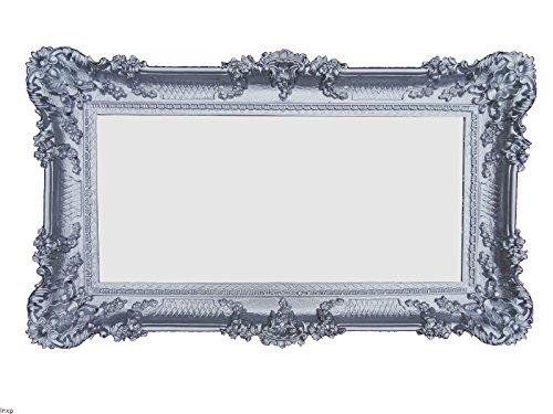 Lnxp WANDSPIEGEL BAROCKSPIEGEL Spiegel in Silber 96x57 Antik Barock Rokoko Shabby Chic Retro Design