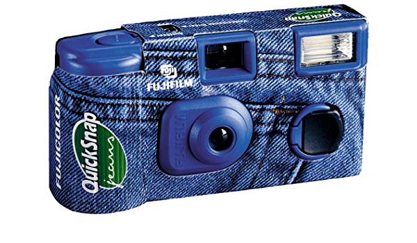 Fuji Quicksnap Jeans 400 Einwegkamera Mit Blitz Kamera