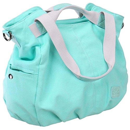 BMC da donna doppia di tela maniglia superiore shopping borsa a tracolla Sky Blue