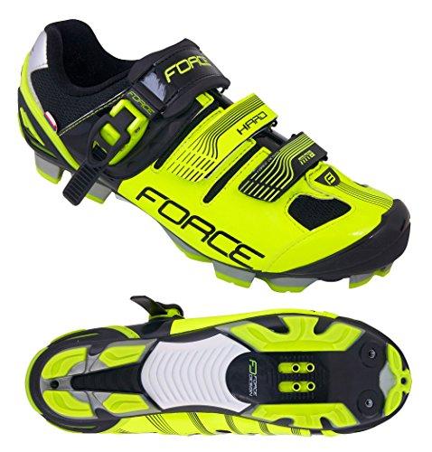 Force Vélo Chaussures VTT rigide 9406239 Jaune/Noir