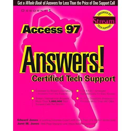 [(Access 97 Answers! : Certified Tech Support)] [By (author) Edward Jones ] published on (September, 1997)