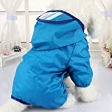 EQLEF® pc 1 della Pet Giacca a vento, impermeabile del cucciolo del cane cappotto cane barboncino animali colorati impermeabile indumenti impermeabili Dress Clothes