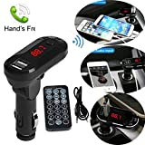 HKFV Bluetooth Wireless FM Transmitter MP3-Player Freisprecheinrichtung Auto Kit USB