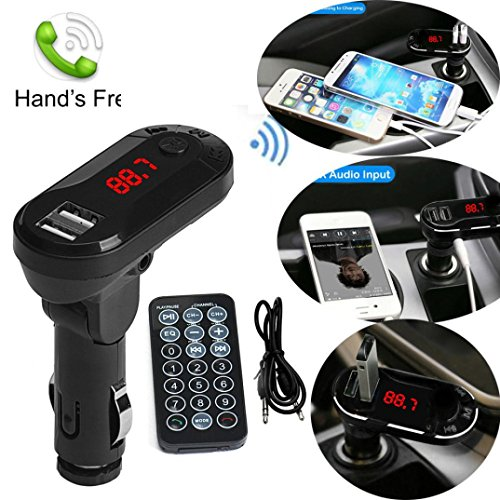 ess FM Transmitter MP3-Player Freisprecheinrichtung Auto Kit USB TF SD Remote Hands free Car Kit FM Transmitter ()