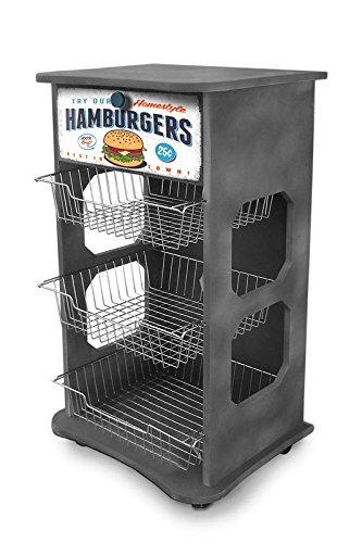 Mehrzweck-Küchenwagen Maßnahmen 40x 45Höhe 85cm Stil Industrial-Hamburgers