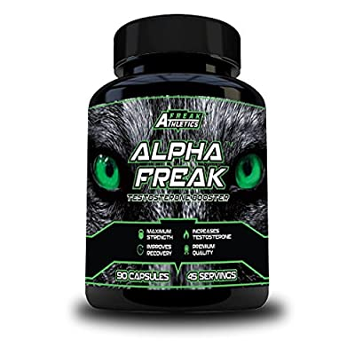 ? Alpha Freak ? Testosterone Booster For Men 90 Capsules ? An Advanced Testosterone Supplement ? Increase Muscle Mass & Size ? Boost Stamina & Energy Levels ?All Natural Ingredients - D-Aspartic Acid, Fenugreek, Zinc, Magnesium, Vitamin D3 & Vitamin B6 ?