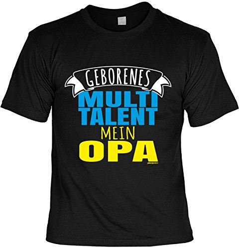 Spaß-Shirt/lustigeSprüche/Opa-Shirt/Fun-Shirt: Geborenes Multitalent mein Opa tolles Geschenk Schwarz