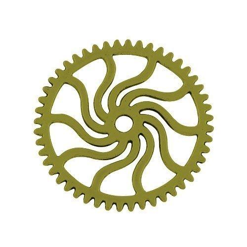 Steampunk Zahnrad Ring (Paket 8 x Steampunk Antik Bronze Tibetanische 25mm Charms Anhänger (Zahnrad) - (ZX11185) - Charming)