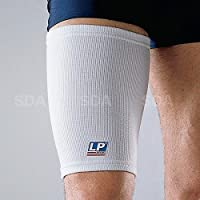SDA New Bi-Lateral Elastic THIGH COMPRESSION SUPPORT Bandage Pulled Hamstring SLEEVE by LP - Quad Brace Strap, Pain , Sports Injury Recovery Sleeve - Strained Muscles - FITS BOTH LEFT & RIGHT SIDE