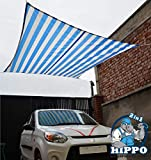 Hippo 2in1 Waterproof Outdoor Shade Sail - Blue White Color - 1 Nos