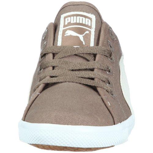 Puma Benecio Canvas Jr, Sneaker unisex bambino bianco (Weiss/Shitake-Whisper White-White)
