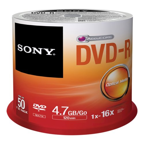 Sony 50DMR47SP DVD regrabable - DVD-R vírgenes