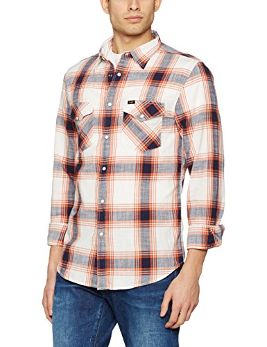 LEE Western Shirt, Chemise Casual Homme Multicolore (Cloud Dancer)