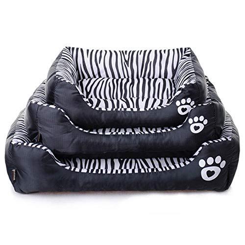 Yhwygg Cama Perro Moda Zebra Pattern Pet Dog Bed Sofá