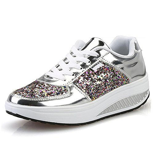 QZBAOSHU Donne Sneaker Dimagrante Scarpe Passeggio & Scarpe Ginnastica Fitness Cunei Piattaforma...