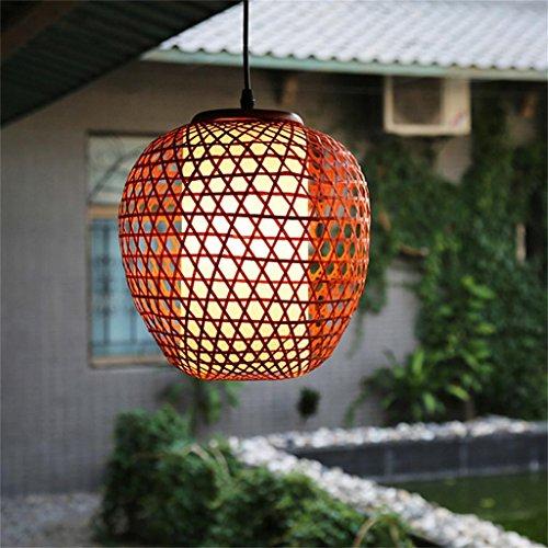 Shopping- Southeast Asian Restaurant Kleines Restaurant Eingangshalle Kronleuchter personalisierte handgemachte Bambus-Lampe leuchtet kreative japanische Kunst-Licht (Japanische Laterne Leuchtet)
