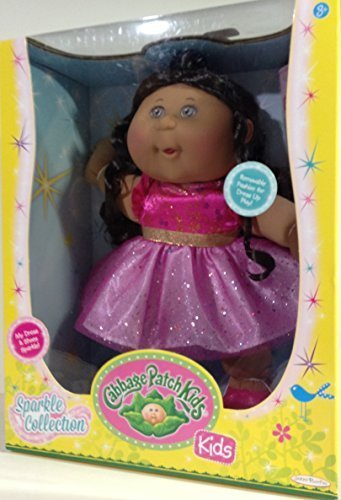 cabbage-patch-kids-sparkle-collection-doll-african-american-pink-dress-brown-hair-eyes-by-cabbage-pa