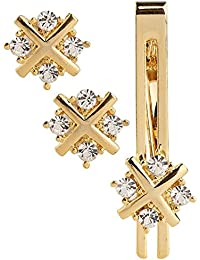 Amaal Men Cuff Links Cufflinks Set Men in a Gift Box Golden Cufflink,Tie pin Combo Set -CFL SET-101