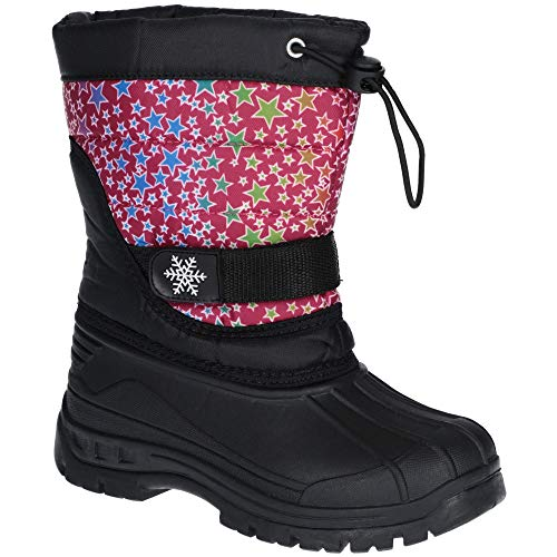 Cotswold Girls Icicle Durable Lightweight Winter Snow Boots - Outdoor Icicle