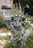 Drachenkind statue de dragon de jardin avec lampe solaire de jardin