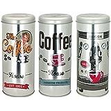 Promobo - Lot De 3 Boites à Capsules Dosette Tassimo Senseo Décor Machine A Expresso Coffee