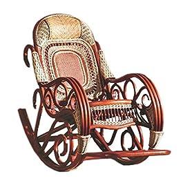 Naturel Bambou – rotin Osier Rocking Chair/Chaise à Bascule/Fauteuil à Bascule/Longue/Relax Fauteuil/Relax Chaise/Siege