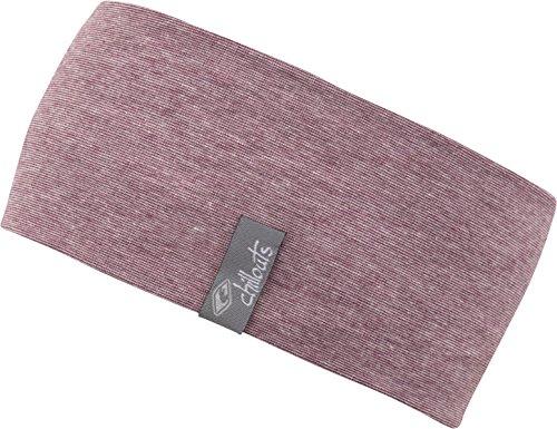 FEINZWIRN Kopfband Haarband Stirnband in vielen Farben für Freizeit Sport doppellagig (rot-Melange)