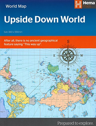 World political upside down in envelope 2016 por Hema Maps