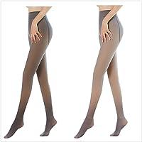 2 Stücke Damen Makellose Beine Gefälschte Durchscheinende Warme Fleece Thermo Strumpfhose Abnehmen Dehnbare Leggings…