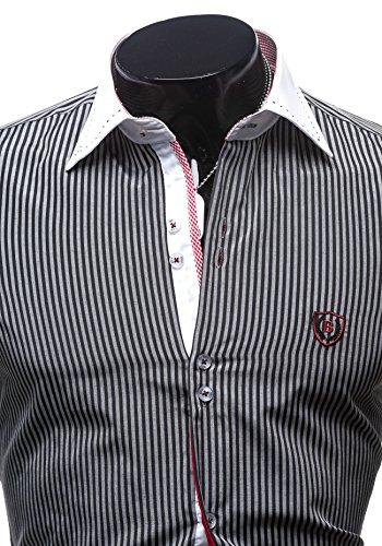 BOLF - Chemise casual - Manches longues – Élégant – BOLF 4784-1 – Homme Noir