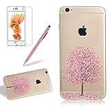Silikon Transparent Case für iPhone SE, Ultradünn Weiches Rubber TPU Gel Handyhülle, Girlyard iPhone 5S Hülle Rosa C