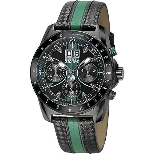 Breil TW1361 Watch Abarth Male Chronograph Black / green