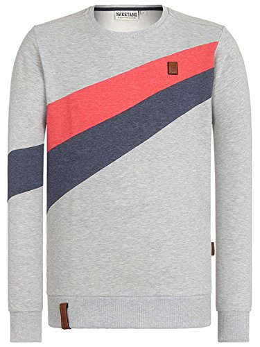 Naketano Male Sweatshirt Verdammte Order 66 II grey/cherry melange