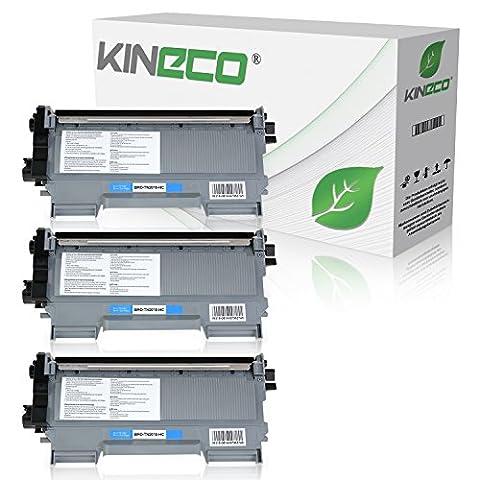 3 Toner kompatibel zu TN-2010 / TN-2220 für Brother MFC-7360N DCP-7055 Brother HL-2135W HL-2130 HL-2132 DCP-7057 - TN2010 TN2220 - Schwarz je 3.000