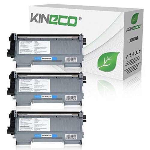 3 Toner kompatibel zu TN-2010 / TN-2220 für Brother MFC-7360N DCP-7055 Brother HL-2135W HL-2130 HL-2132 DCP-7057 - TN2010 TN2220 - Schwarz je 3.000 Seiten