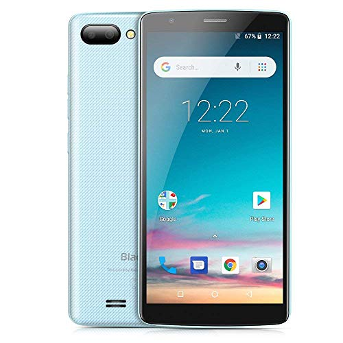 "Blackview Backview Günstiges Handy, A20 3G Dual SIM Smartphone Ohne Vertrag, 5.45"", Android Go, 1GB/8GB MTK6580 Quad-Core, 5.0MP+0.3MP Dual Back-Kamera, 3000mAh, GPS WiFi (Blau)"