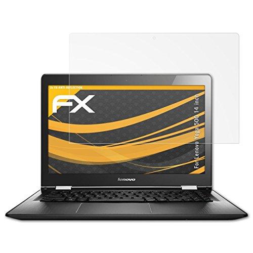 atFolix Schutzfolie für Lenovo Yoga 500 (14 inch) Displayschutzfolie - 2 x FX-Antireflex blendfreie Folie