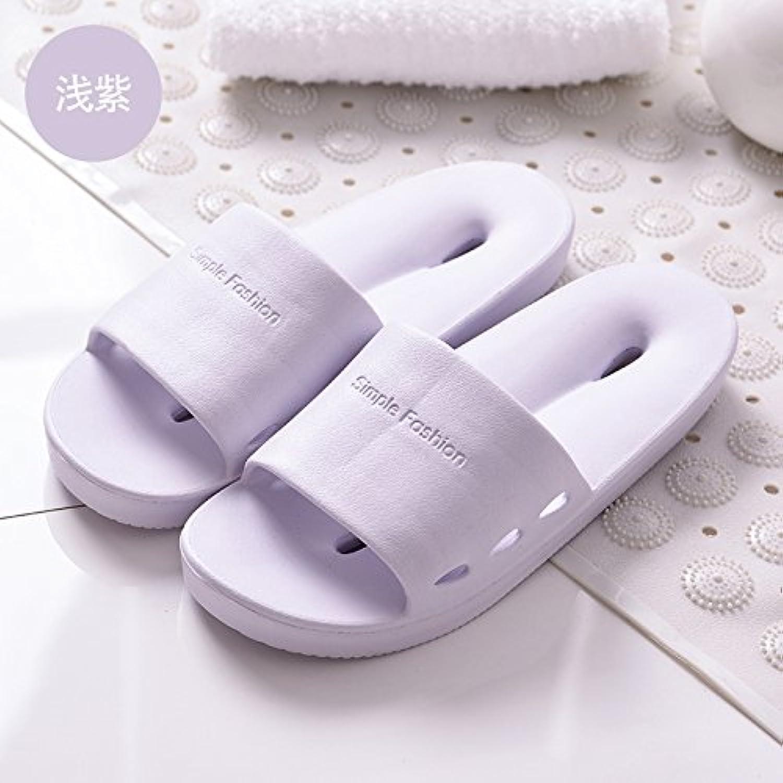 Fankou Cool Zapatillas casa de verano wc bañera ducha WC Zapatillas de verano ,hembra 37-38, violeta