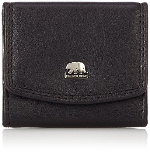 Brown Bear Münzbörse Leder schwarz 8008