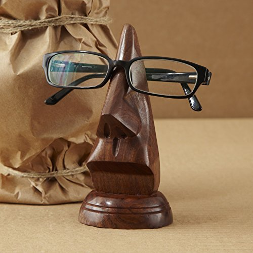 Soprammobile porta occhiali, in legno