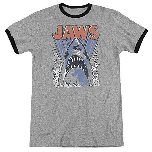 Jaws Herren T-Shirt Heather/Black