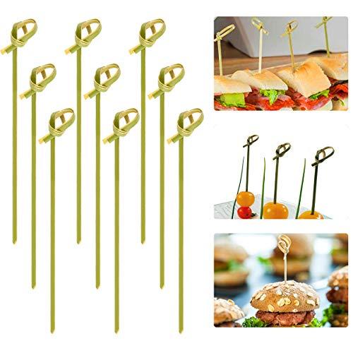 Cosweet Cocktailspieße aus Bambus, 12,7 cm, ideal für Pferde d'oeuvre, Vorspeisen, Cocktail-Partys oder Grill-Snacks, Club-Sandwiches, 500 Stück Cocktails, Hors Doeuvres