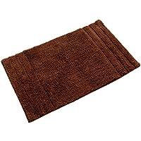 Homescapes 1 Tapis de bain éponge ANTIDERAPANT (50 x 80cm) SPA ET LUXE. Pur coton ULTRA DOUX. Couleur CHOCOLAT