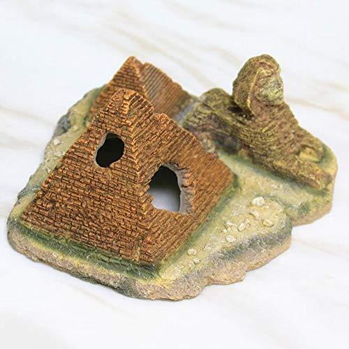 LIPETLI Schöner Pyramiden Pharao Aquarium Dekoration Shrimp Refuge Landschaftsgestaltung Dekorationen geeignet für Fische Wasserorganismen
